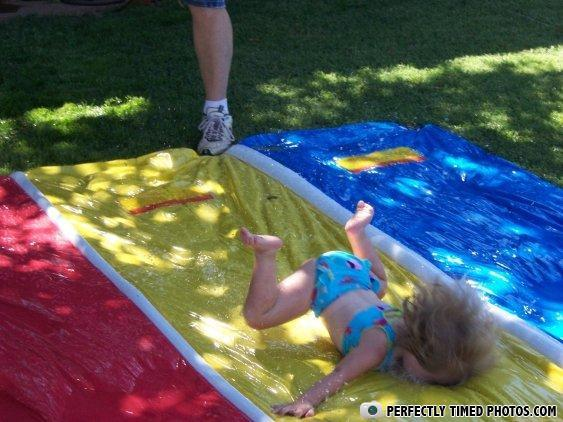 - even the slip 'n' slide hates her