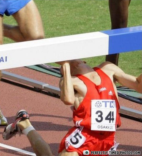- ur supposed to jump over the hurdle!