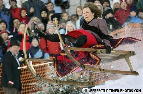 - Grandma got ran over by a...sled?
