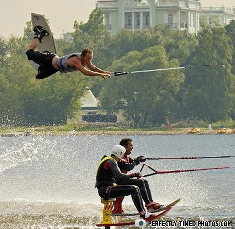 - Wake boarding man always strikes when you're least